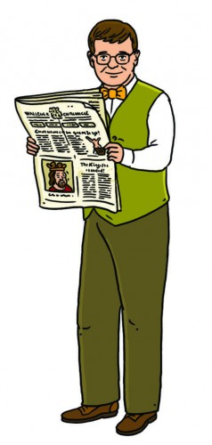 Chronicler with Newspaper HISTORY