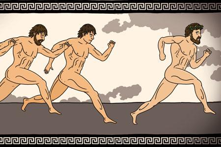 Greek runners take to Olympia